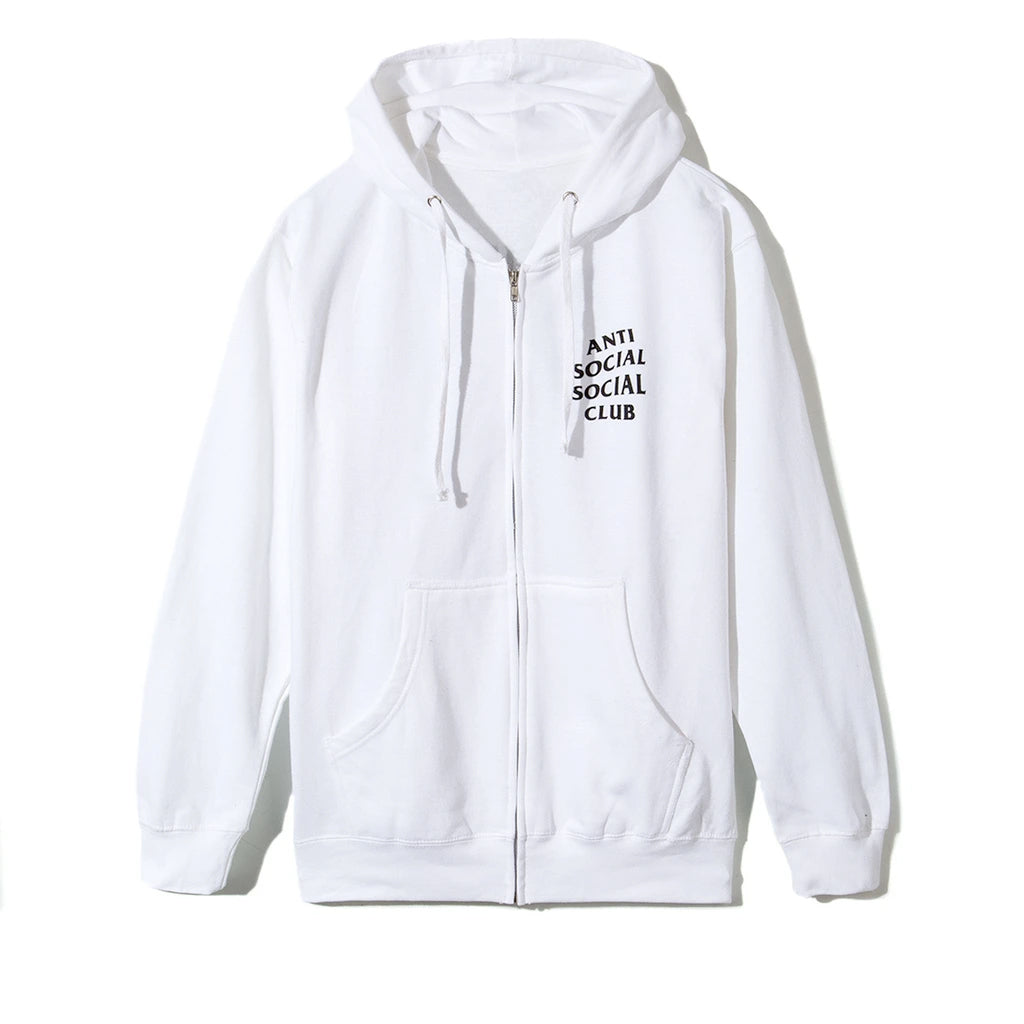 anti social social club masochism zip up hoodie