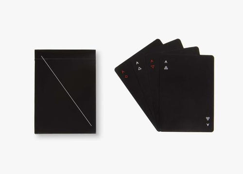 areaware minim playing cards POP set (black)