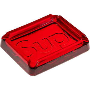 supreme debossed glass ashtray (red)