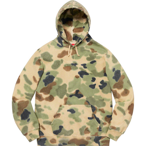 supreme overdyed hooded sweatshirt (painted camo)
