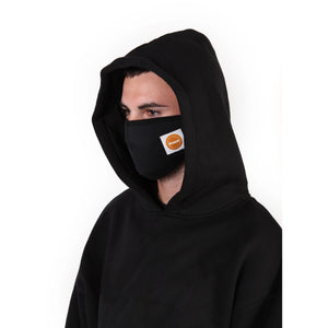 fuct protective face mask (blk/orange logo)