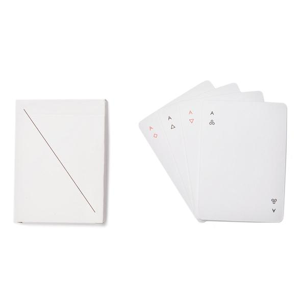 areaware minim playing cards POP set (white)
