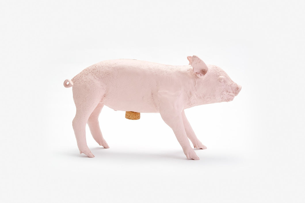 areaware reality piggy bank (matte pink)