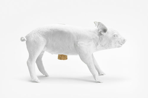 areaware reality piggy bank (matte white)