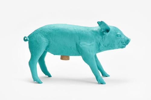 areaware reality piggy bank (teal)