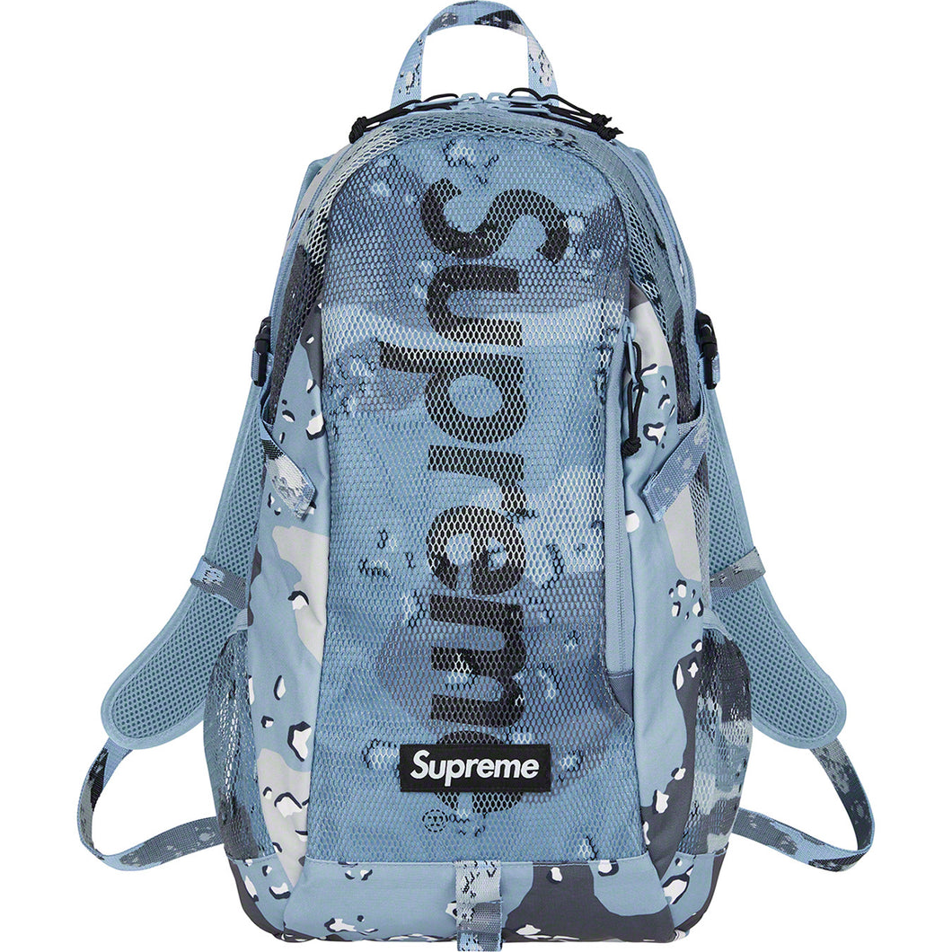 Supreme Backpack Blue Choco Chip Camo (SS20)