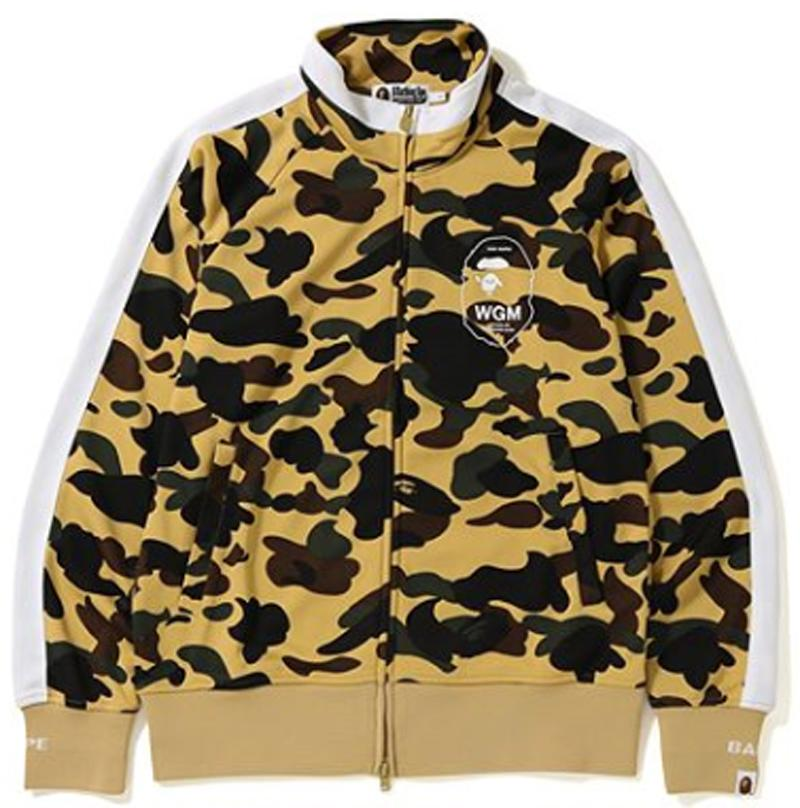 bape 1st camo line jersey top (yellow)