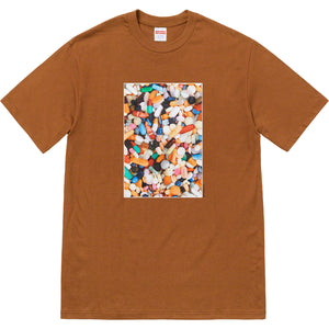 supreme pills tee (brown)