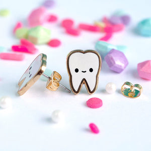 luxcups teeth earrings