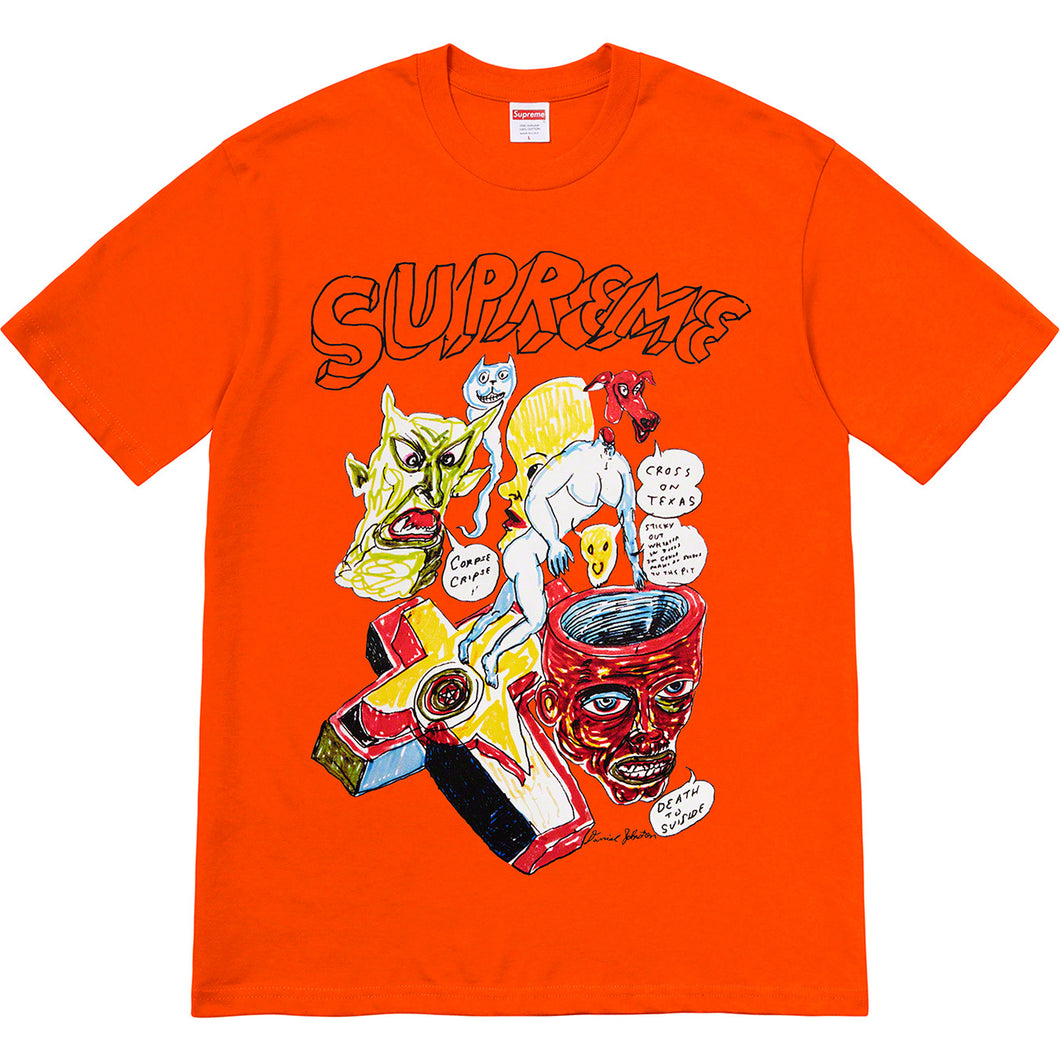supreme x daniel johnston tee (orange)