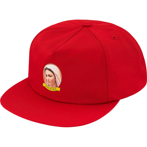 supreme 5-panel mary cap (red)
