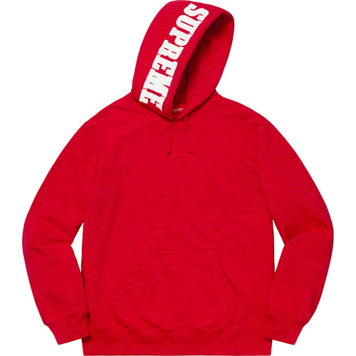 supreme mirrored logo hooded sweatshirt (red)