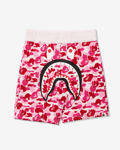bape abc shark shorts ss20 (pink)