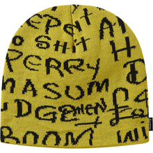 Load image into Gallery viewer, supreme black ark beanie (yellow)