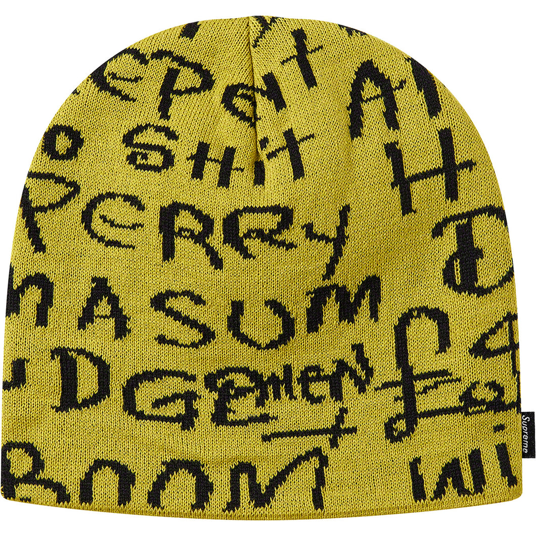 supreme black ark beanie (yellow)