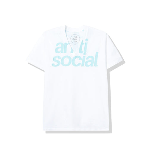anti social social club enrique vneck tee (white)