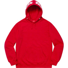 Load image into Gallery viewer, supreme mirrored logo hooded sweatshirt (red)