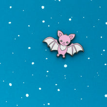 Load image into Gallery viewer, luxcups pink bat enamel pin