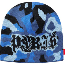 Load image into Gallery viewer, supreme paris camo beanie (blue camo)