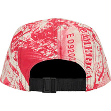 Load image into Gallery viewer, supreme bling camp cap (red)