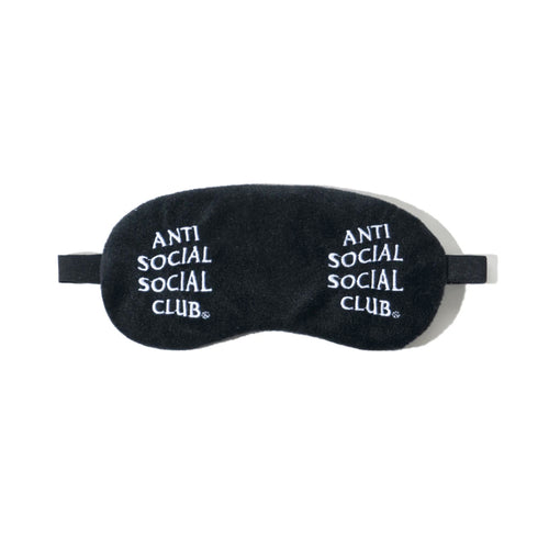 anti social social club offline sleep mask (blk)