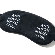 Load image into Gallery viewer, anti social social club offline sleep mask (blk)
