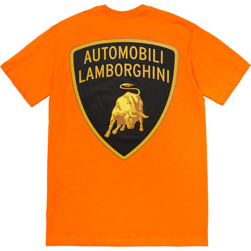 supreme x lamborghini tee (orange)