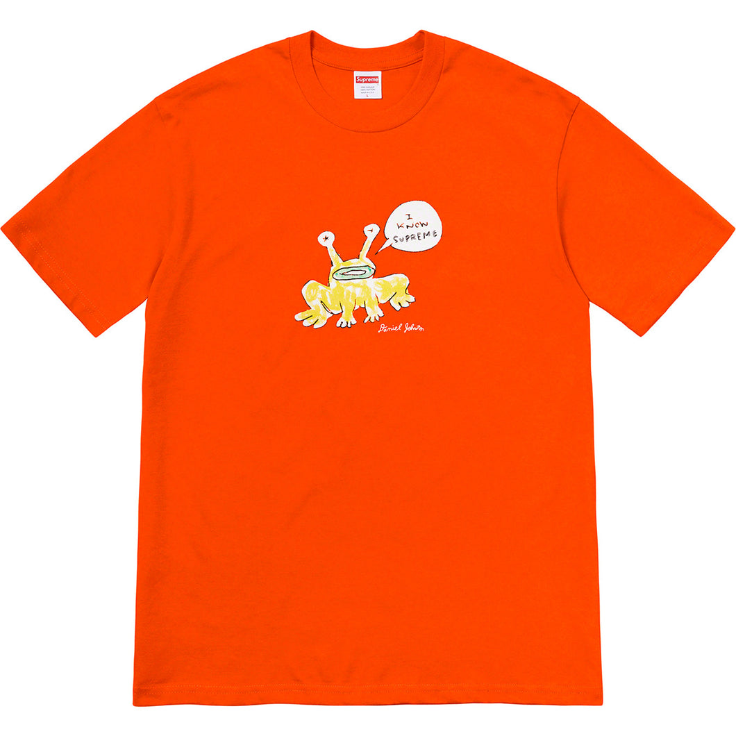 supreme x daniel johnston frog tee (orange)