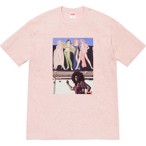 supreme 'american picture' tee (heather lt pink)