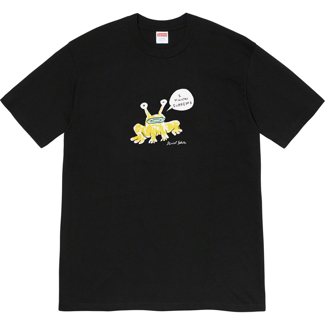 supreme x daniel johnston frog tee (blk)
