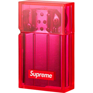 supreme x tsubota pearl hard edge lighter (neon pink)