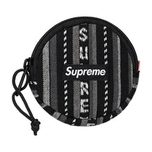 Load image into Gallery viewer, Supreme Woven Stripe Coin Pouch (blk)