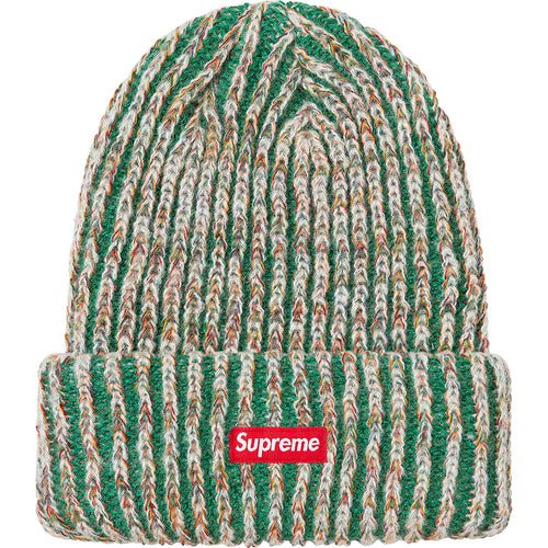supreme rainbow knit loose gauge beanie (dark green)