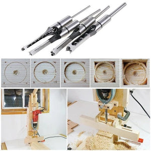 HOLLOW CHISEL MORTISE DRILL TOOL (4 PCS)+ GIFT
