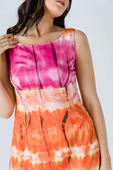 Multicoloured Empire Line Dress
