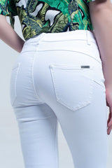 White Skinny Jeans Push Up Effect