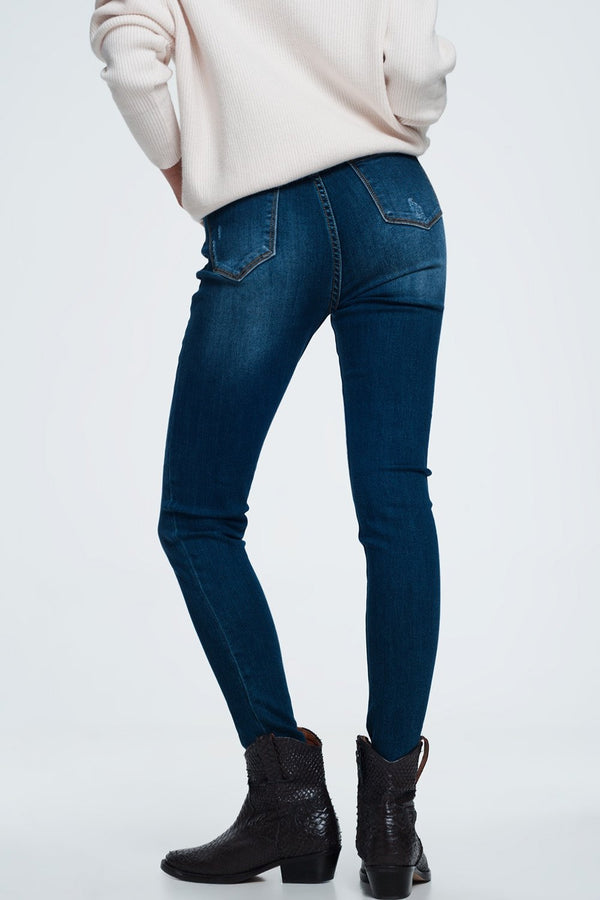 Basic Blue Jeans in a Dark Wash