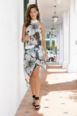Halterneck Wrap Dress