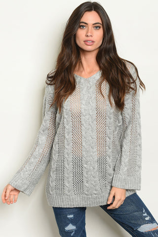 Shop the Trends Grey Sweater