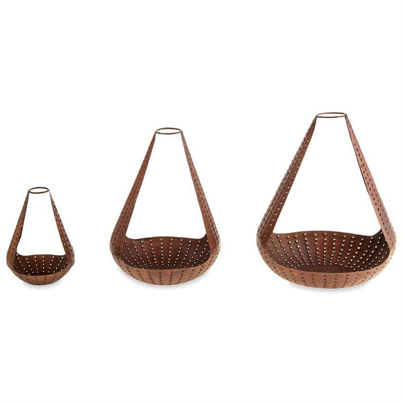 Pierced Teardrop Lantern Set of 3