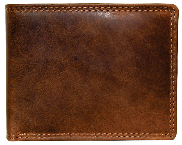 Horizontal Fold Men's Wallet with Flip Out 990008