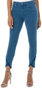 Abby Crop Skinny with Scalloped Hem