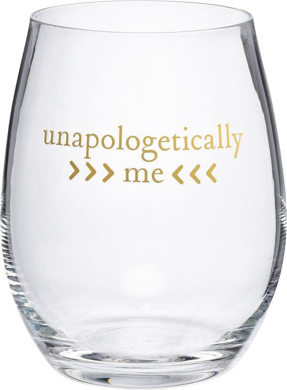 Unapologetically Me Stemless Wine Glass