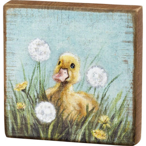 Duckling Block Sign