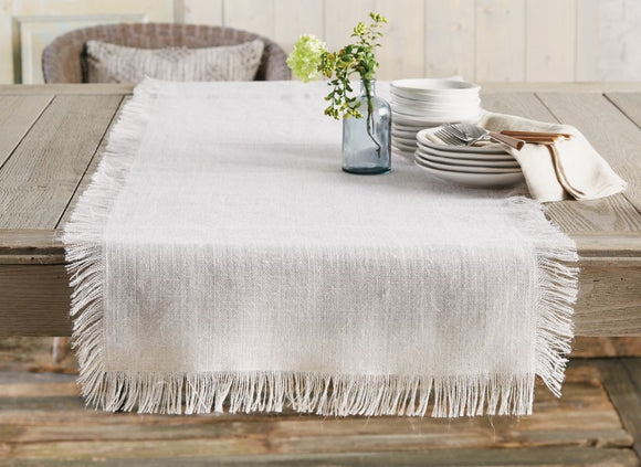 White Jute Table Runner