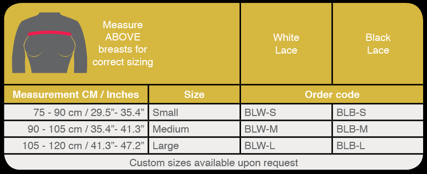 breast implant stabilizer band sizing guide