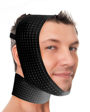 Calla Breeze - Chin & cheek compression with neck band and optional pouches for cold packs