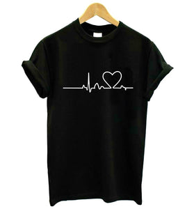 Heartbeat Harajuku Casual Tee - We Love Faith