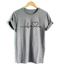 Load image into Gallery viewer, Heartbeat Harajuku Casual Tee - We Love Faith