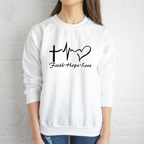 Faith Hope Love Kawaii Sweatshirt - We Love Faith